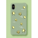 Summer Girls Cute Green Avocado Printed Mobile Phone Case for iPhone