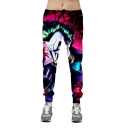 Popular Fashion Comic Figure Jogger 3D Printed Purple Drawstring Waist Casual Sweatpants