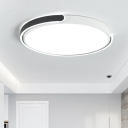Acrylic Round Shade Flush Light Fixture Nordic Style LED Ceiling Light in Warm/White