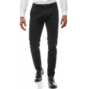 Basic Fashion Simple Plain Slim Fitness Business Dress Pants for Men