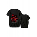 Hot Popular Kpop Boy Band Letter Keep Spinning Printed Short Sleeve Loose Fit T-Shirt