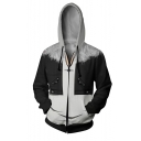Final Fantasy Comic 3D Printed Black Long Sleeve Zip Up Cosplay Hoodie