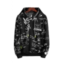 Hot Fashion Mathematical Formula Letter Printed Long Sleeve Casual Pullover Hoodie