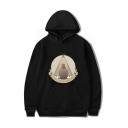 New Fashion The Big Lebowski Letter THE DUDE ABIDES Graphic Printed Long Sleeve Unisex Casual Pullover Hoodie with Pocket