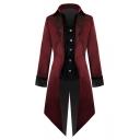 Mens Hot Popular Vintage Medieval Steampunk Longline Swallowtail Coat Blazer