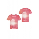 Kpop Popular Letter DREAM GLOW Planet Printed Pink Short Sleeve Round Neck T-Shirt