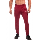 New Stylish Logo Printed Elastic Cuffs Skinny Training Pants Fitness Pencil Pants for Men