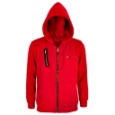 Hot Sale Money Heist Cosplay Costume Chest Zippered Pocket Red Hooded Coat