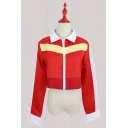 Voltron Cosplay Costume Contrast Stripe Red Zipper Jacket