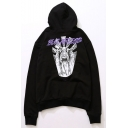 Unisex Popular Fashion Letter Figure Goddess Printed Long Sleeve Casual Drawstring Hoodie
