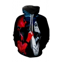 New Arrival Hot Trendy Comic Character 3D Printed Black Long Sleeve Pullover Hoodie