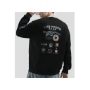 New Fashion Letter PIED MAGPIE Printed Round Neck Long Sleeve Casual Sports Pullover Sweatshirts