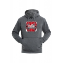 Mens Hot Fashion Letter 23 Printed Long Sleeve Casual Sports Hoodie with Pocket