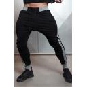 Men's New Stylish Colorblock Patched Drawstring Waist Trendy Sports Sweatpants Pencil Pants