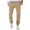 New Stylish Solid Color Slim Fit Men's Casual Chino Pants