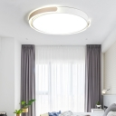 Contemporary Ultrathin Lighting Fixture with Round Acrylic Shade LED Ceiling Lamp in Warm/White