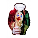 Hot Popular Clown Joker 3D Printed Drawstring Hooded Long Sleeve Casual Loose Hoodie
