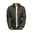 Men's New Arrival Stand Collar Long Sleeve Camouflage Print Zipper Padded Coat