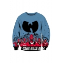 New Arrival American Hot Rapper Comic Figure Logo Printed Round Neck Long Sleeve Unisex Pullover Sweatshirts