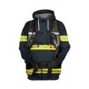 New Fashion Firemen Uniform Cosplay Costume Drawstring Hooded Long Sleeve Pullover Hoodie