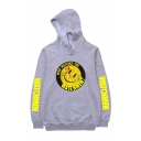 Hot Fashion Letter WATCHMAN Emoji Printed Long Sleeve Unisex Casual Sports Pullover Hoodie