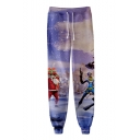 New Fashion Christmas 3D Printed Drawstring Waist Trendy Casual Sweatpants