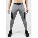 Men's New Fashion Colorblock Patched Quick-drying Leggings Sports Jogging Pants