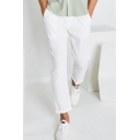 Men's Popular Fashion Simple Plain Straight Slim Fit Casual Pants
