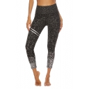 Womens Fashion Hot Drilling Fold Over Waist Bum Lift Skinny Fit Yoga Leggings Pants