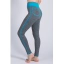 Trendy Contrast Stitching Fake Pocket Patched Fitness Slim Yoga Leggings
