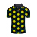 Guys Summer New Trendy Funny 3D Hole Pattern Short Sleeve Lapel Collar Polo Shirt