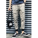 New Stylish Camouflage Printed Flap Pocket Side Casual Slim Cargo Pants