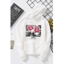Unisex Trendy Letter JEANS Shoes Printed Long Sleeve Casual Sports Hoodie