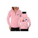 Popular Fashion Astroworld Letter Printed Long Sleeve Full Zip Casual Sports Hoodie