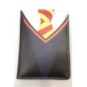 New Trendy Tie Printed Black PU ID Card Holder Wallet