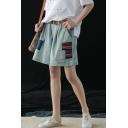 Summer New Trendy Oversize Belt Waist Patchwork Multi Pocket Casual Loose Denim Shorts