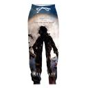 Hot Fashion Popular Singer Printed Drawstring Waist Casual Sweatpants