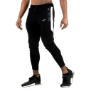 New Stylish Colorblock Patched Side Zipped Pocket Logo Printed Drawstring Waist Casual Fitness Pants Sports Pencil Pants for Men