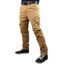 Men's Simple Fashion Solid Color Slim Fit Casual Chino Pants