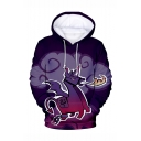 Hot Popular Game Figure Unicorn 3D Printed Purple Loose Fit Long Sleeve Pullover Hoodie