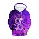 Popular South Side Snake Tree 3D Printed Long Sleeve Purple Loose Pullover Hoodie