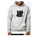 Hot Trendy Five Bars Logo Printed Long Sleeve Unisex Casual Sports Hoodie