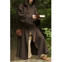 New Stylish Vintage Cosplay Costume Simple Plain Long Sleeve Hooded Cape Cloak Coat