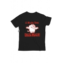 Humor Funny Short Sleeve Round Neck I Hate You Letter Cartoon Printed Cotton T-Shirt