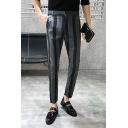 Men's Hot Fashion Colorblock Stripe Printed Slim Fit Casual Dress Pants