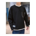Men's New Design Pocket Embellished Simple Plain Casual Sweatshirt