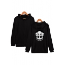 Hot Trendy Alien Letter Storm Area Printed Zip Front Fitted Sport Hoodie