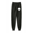 New Fashion Alien Printed Drawstring Waist Sport Loose Unisex Joggers Sweatpants