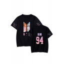 Fashion Kpop Boy Band Figure Print Short Sleeve Relaxed T-Shirt