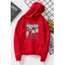 WANTED Letter Animal Printed Long Sleeve Loose Hoodie With Pocket